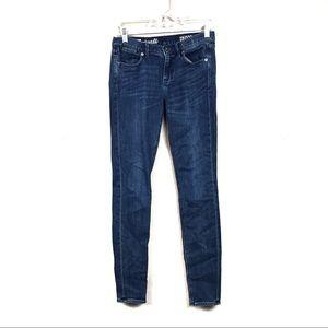 Madewell dark wash skinny skinny jeans 26